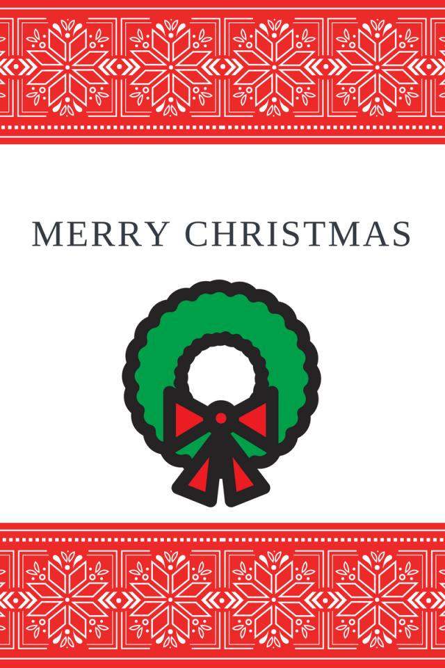 Christmas wreathornaments